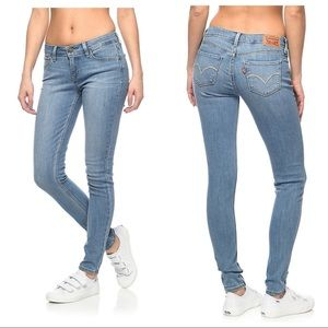 Levi's Lightwash 535 Super Skinny Jeans